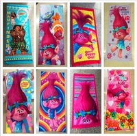 Girls cartoon robe - Children Moana Trolls poppy Carton Bath towel summer beach swimming Kids Favors Towels B Party Favor for Kids CM