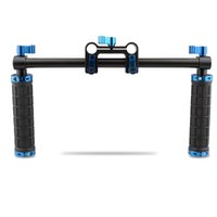 Wholesale Shoulder Rig Kit - CAMVATE Handle Grips Handlebar Support Kit for DSLR Camera Camcorder Shoulder Rig (Blue Thumbsrews)