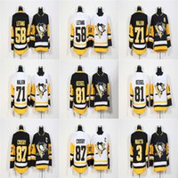 Cheap 2018 New Brand Ad Mens Pittsburgh Penguins 87 Sidney Crosby 71 Evgeni Malkin 81 Phil Kessel Kris Letang Olli Maatta Hockey Jerseys