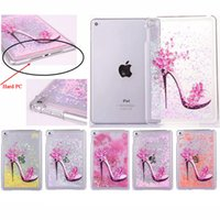 Wholesale Bling Ipad Back Cover - NEW Cute Star Sand Quicksand Crystal Hard PC Cover for Ipad Mini 4 Bling Protective Case for Apple Ipad Mini 4 Back Cover