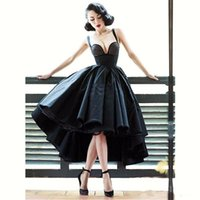 Wholesale cocktail gown designs resale online - Sexy Little Black Dress Off Shoulder Cocktail Dresses Short Front Long Back Backless Latest Gown Design High Low Prom Dress