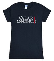 Wholesale Wholesale Sexy Games - Wholesale- 2016 Summer VALAR MORGHULIS KHALESSI GAMES OF THRONES robe sexy t shirt Women brand top harajuku tee shirt funny tracksuit femme
