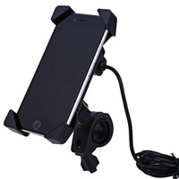 Wholesale Motorcycle Mobile Phone Usb Charger - Wholesale- car CS - 417A1 Vehicle Motorcycle Adjustable Mobile Phone Holder USB Power Charger with Over Voltage Protection Easy to Install