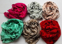 bufandas de gasa vintage al por mayor-2017 venta caliente marilyn monroe estilo vintage del todo fósforo ladies bufanda gasa bufanda chal mezcla 6 colores 6 unids
