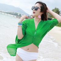 Wholesale The new uv sunscreen in summer cape beach towels female drive bike shade changed new scarves