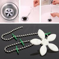 Wholesale Kitchen Sink Drain Strainer - Bathroom Hair Sewer Filter Drain Outlet Kitchen Sink Filter Strainer Drain Cleaners Anti Clogging Floor Wig Removal Clog Tool CCA6464