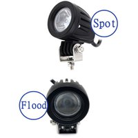 Barato Off Road Motocicleta Mini-10W LED Work Light Mini 12V 24V Carro Auto SUV ATV 4WD AWD 4X4 Off Road Luz de trabalho Farol de nevoeiro Motorcycle Truck Headlight
