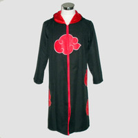 Wholesale itachi uchiha full cosplay for sale - naruto cosplay costume Naruto Akatsuki Uchiha Itachi Cosplay Cloak Hooded