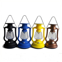 IP65 outdoor solar cells - 7 LED Solar Cells Panel Lantern Light Outdoor Hand Crank Portable Lamps Outdoor Lighting Hiking Lamps Camping Lamps Emergency Light