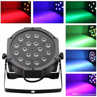 Wholesale 18 LED RGB PAR CAN DJ Stage DMX Lighting For Disco Party Wedding Uplighting E00179 SMAR