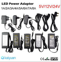 Wholesale 5v 4a Dc Power Adapters - AC100-240V to DC 5V 12V DC24V 2A 3A 4A 5A 6A 8A Switching Power Supply Adapter with EU UK US Plug transformer 5050 3528 Led Strips CE ROHS