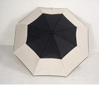 sacs à motifs achat en gros de-Modèle de luxe classique Camellia Flower logo Parapluie Pour Femmes 3 Fold Parapluie De Luxe Avec Cadeau Boîte Et Sac Pluie Parapluie VIP cadeau