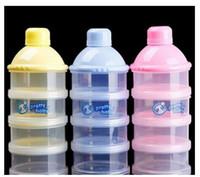 Wholesale Wholesale Baby Powder Bottles - Portable Container Infant Food Milk Feeding Powder Dispenser Bottle Baby Travel Storage Box Products