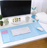 Bamboo oversized computer mouse - hot sale New fashion colors Oversized desk writing pad multifunction computer fresh mat PVC waterproof pad mouse pad