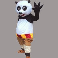 Wholesale Panda Bear Halloween Costumes - Lovely Kungfu Panda Adult Size Mascot Bear Costume Fancy Birthday Party Dress Halloween Carnivals Costumes With High Quality