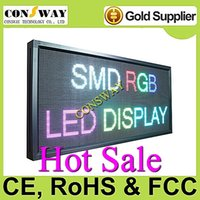 Wholesale and CE approved electronic led scrolling display sign with RGB and size mm