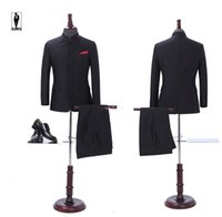 Wholesale Chinese Plus Size Costumes - UR 01 Chinese Style Traditional Bussiness Fashion In Stock Costume Homme Formal Blazer Wedding Tuxedo Wedding Suits For Men Groom Party