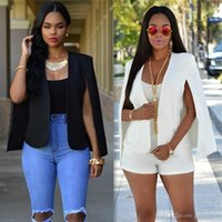 Wholesale Stylish Blazer Women - Fashion Plus Size Women Short Blazer Suit Coat Female Solid Stylish Office Suits Slim OL Business Suit Womam Casual Jacket