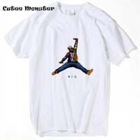 Wholesale America T Shirt Small - Wholesale- Notorious B.I.G Jumpman T-Shirt America hiphop rock star t shirt Biggie Smalls tee shirt clothes color painting t-shirt tops 3XL