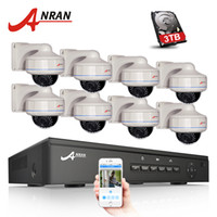 Wholesale 8ch System Cctv Ir - Plug And Play 8CH NVR POE CCTV System 3TB HDD P2P 1080P HD Vandalproof Dome 30 IR Night Vision Security Surveillance Camera Kit
