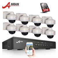 kamera güvenlik sistemleri hdd toptan satış-Tak Ve Çalıştır 8CH NVR POE CCTV Sistemi 3 TB HDD P2P 1080 P HD Vandalproof Dome 30 IR Gece Görüş Güvenlik Gözetim Kamera Kiti