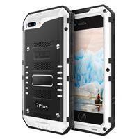 Wholesale shock iphone 5c for sale - IP68 Luxury doom armor Dirt Shock Waterproof Metal Aluminum alloy phone case For iphone SE C S S Plus case Tempered glass
