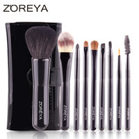 Wholesale Makeup Brushes Kolinsky Hair - 9Pcs Professional Portable Makeup Brushes Sets Kolinsky Hair Foundation Powder Blush Make Up Brush Cosmetic Tools Pinceis