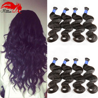 Wholesale Human Hair Bulk Braiding Wavy - Hannah product Mixed Length Brazilian Hair For Braids 3Pcs Human Braiding Hair Bulk wet and wavy Brazilian Bulk Hair For Braiding