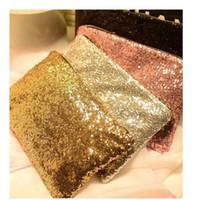 bling clutch çanta toptan satış-2017 Moda kadın Köpüklü Sequins Göz Kamaştırıcı Debriyaj Parti Akşam Çanta Bayanlar Çanta Kızlar Kristal Bling Çanta