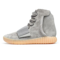 "Wholesale red hunting lights - 2017 Wholesale 750 Boost 750 Glow Dark Kanye West BB1840 ""Glow In The Dark"" Light Grey Light Grey Gum Men Women Trainers Shoes With Box"