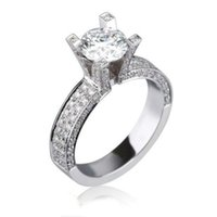 Wholesale Si Diamond Ring - CERTIFIED 2.85 CT ROUND CUT SI DIAMOND ANNIVERSARY RING 14K WHITE GOLD