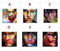 Wholesale Modern Face Oil Painting Canvas - 6pcs Palette knife portrait Faces,Pure Hand Painted Modern Wall Decor Abstract Art Oil Painting On High Quality Canvas.customized size al-Ea
