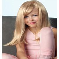 blonde glueless menschliche spitzeperücken groihandel-Baby Perücke AliBlissWig Yaki Gerade Glueless Volle Spitzeperücken Für Farbe 16 # Blonde Frauen Natürliche 130% Dichte Brasilianisches Remy Menschenhaarperücken