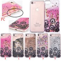 Wholesale Tinkerbell Iphone 5s Case - Quicksand Liquid Glitter Dandelion Tinkerbell Hard PC Case For Iphone 7 I7 6S 6 plus SE 5 5S High Heel Unicorn Bling Flower Dynamic Cover