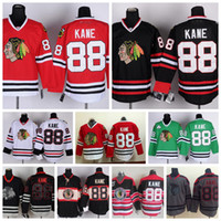 Wholesale 2017 Chicago Blackhawks Patrick Kane Jerseys Home Red Men Cheap Patrick Kane Hockey Jersey Green Winter Classic Throwback Black Stitched