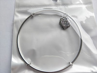 Wholesale Sterling Silver Bracelet For Children - 2017 New Sterling Silver Bracelets adjustable With Rhinestone Charm Bead Bangle Bracelet Jewelry Gift For Men Women lady Children