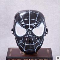 máscaras de aranha vermelha venda por atacado-Popular Spiderman Máscara Preto Vermelho Spiderman Superhero Crianças Máscara Masquerady Máscaras de Cosplay Do Dia Das Bruxas Do Partido Do Cliente Novidade Máscara Frete Grátis