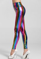 Wholesale Sexy Ladies Wearing Leggings - CRYG Fitness Pant Dance Wear For Women Leggings Pants Sexy Ladies Shine Colorful Empire Waist Fluorescent Rainbow Fitness Adventure Time