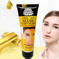 Wholesale Dead Rising - Free ship 120g gold collagen rose milk cucumber dead sea mud lemon peel off - black mask remove blackheads shrink pores clean and relaxed