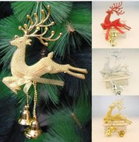 Wholesale Deer Christmas - Fashion 1 PC New Deer Hanging Christmas Tree Ornament Home Wedding Party Xmas Decor 3 Colors
