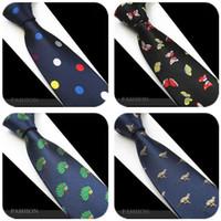 ingrosso i migliori legami natali-2019 cravatta natalizia 22 colori 145 * 7cm cravatta jacquard cravatta da uomo cravatta uomo in poliestere per il miglior regalo di natale