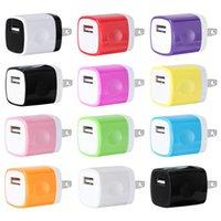 mobile ladegeräte farben großhandel-10 Farben 200pcs 5V 1000mah 1A EU US-Wandaufladeeinheits-Energienadapter für iphone 5 6 7 plus für Samsung-Brombeere-HTC-Handy gps mp3