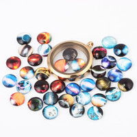 Wholesale Beautiful Glass Beads - Newest 10mm Beautiful Round Glass DIY Flower Printing Charms Dome Cabochons Charms for Glass Locket Jewelry Accessories