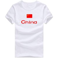 Wholesale T Shirts Sports China - China T shirt Cheer sport short sleeve Great fans tees Nation flag clothing Unisex cotton Tshirt