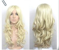 Wholesale Long Pale Blonde Wigs - New wig Cosplay New long Pale Blonde Curly Wig