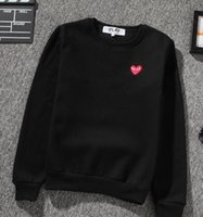 Wholesale Women S Sweater Hearts - Fall burst models PLAY embroidery hearts classic couple men and women sweater plus velvet padded hoods sweater