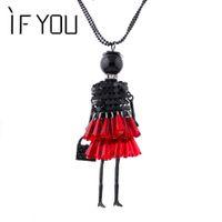 Wholesale dropship dresses - 2016 Brand doll Pendant Necklace Dress Doll Necklaces & Pendants Maxi collares Women Gift collier Statement Necklace Dropship