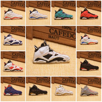 Wholesale Cartoon Basketball Shoes - 20 Styles Basketball Shoes Key Chain Rings Charm Sneakers Keyrings Keychains Hanging Accessories Novelty Fashion Sneakers C90L