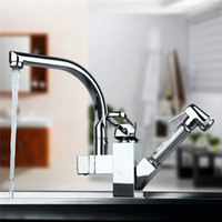 Wholesale Mixer Kitchen Water Tap - Solid Brass Kitchen Mixer Cold and Hot Kitchen Tap Single Hole Water Tap Kitchen Faucet torneira cozinha