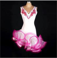 Wholesale Samba Dancing Clothes - Latin Dance Dress Women Girls For Salecha Cha Rumba Samba Ballroom Dancing Dancewear Fitness Clothes Lady Kids Dance Costume FN102